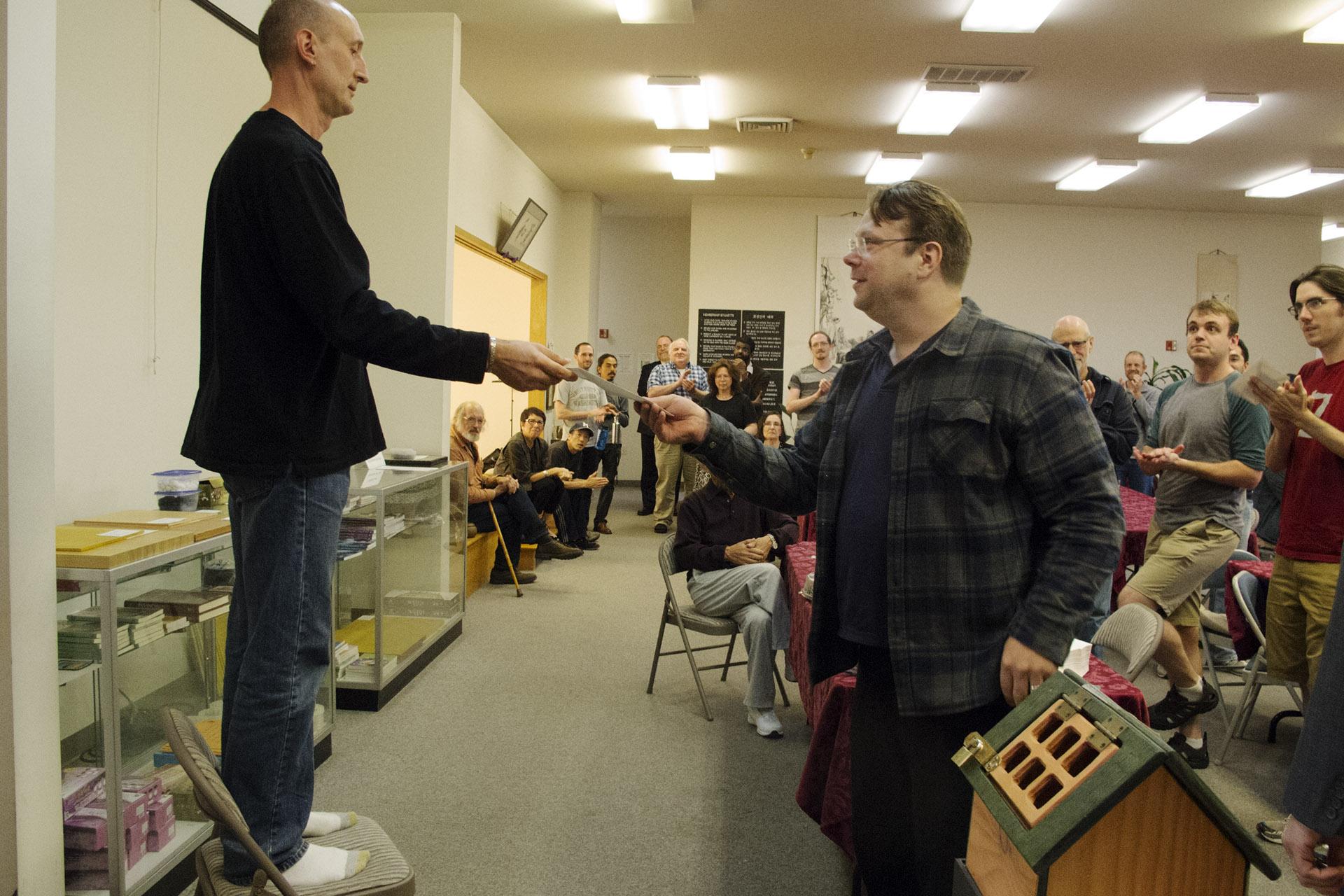 Ben Hakala gets Dan Handicapped Section 2nd Place Prize